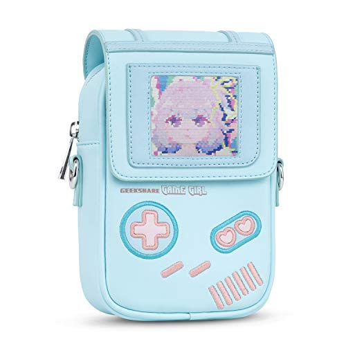 GeekShare Game Girl Crossbody Bag Backpacks Bag Purse with DIY Card Slot For Women, Convenient, Fashion & Light weight