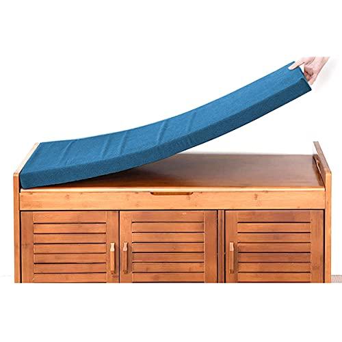 Waigg Kii - Cuscino per panca a 2 posti, 80/100/120 cm, cuscino per panca da giardino, per dondolo, per giardino, patio, sala da pranzo, cucina (180 x 30 x 5 cm, blu scuro)