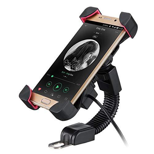 Alamor 3.5-7inch Mobile Téléphone Houlder Bracket 2.1A USB Chargeur Moto Mont Puce De Charge