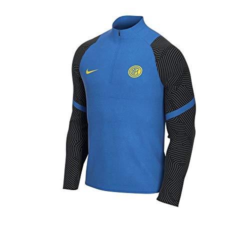 NIKE Inter M NK Dry Strk Dril Top Long Sleeved t-Shirt, Hombre, Blue Spark/Black/Tour Yellow no Sponsor-plyr, 2XL