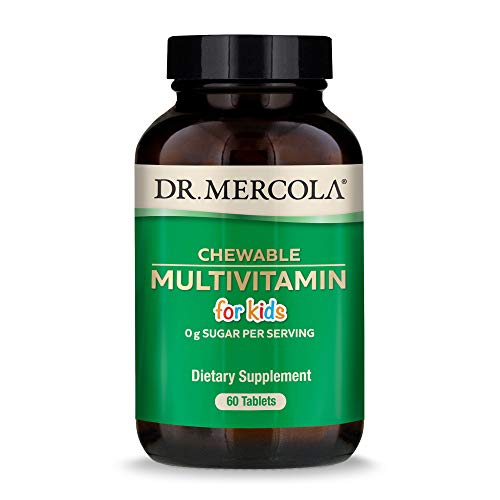 Dr. Mercola, Chewable Multivitamin for Kids, 30 Servings (60 Tablets), Non GMO, Soy-Free, Gluten-Free