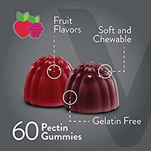 [60 Count 2 Pack] Fiber Prebiotic Sugar Free Gummies - Digestive Heath Regularity Support, Natural Weight Support, Vegan Dietary Supplement, Good for Adults Teens & Kids - Fruit Flavored Pectin Gummy