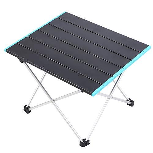 AMONIDA Auffälliger Picknicktisch mit stabilisierender Halterung, starker und langlebiger Klapptisch mit Rahmen, praktisch für Picknickbalkon im Innenhof mit Rucksack auf der Strandparty