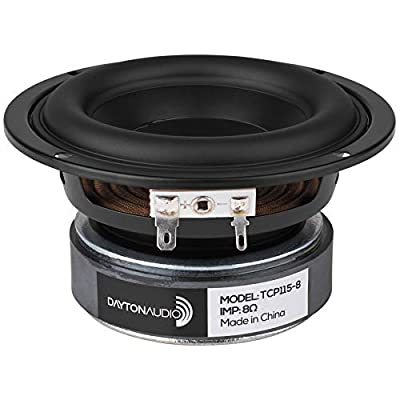 "TCP115-8 4"" Treated Paper Cone Woofer from Dayton Audio"