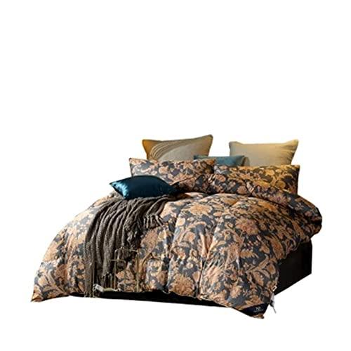 Gänsedaunen-Steppdecke, Tagesdecke, Decke für den Winter, Queen-Size-Bett, A, 160 x 210 cm
