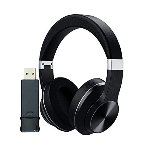 Bluetooth Headset + USB Transmitter for tv pc Wireless Headset Over-Ear Noise HiFi Stereo Headset with Microphone