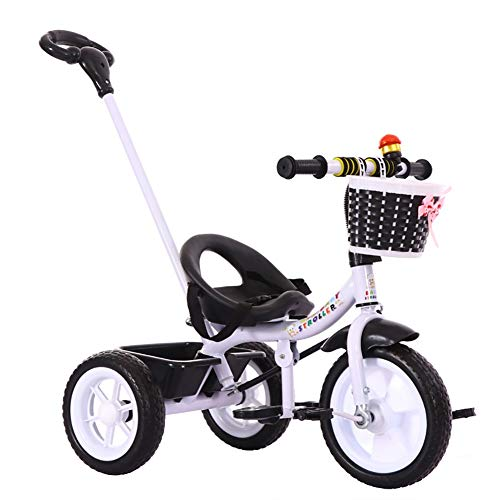 Lowest Prices! Children's Bicycle with Handlebars, for Baby or Toddler, 1-6 Years Old Bicycle Stroll...