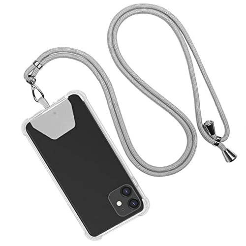 Correas para teléfonos móviles Cordón universal para teléfono Cordón de nylon para teléfono celular para teléfonos inteligentes IPhone, gris, China