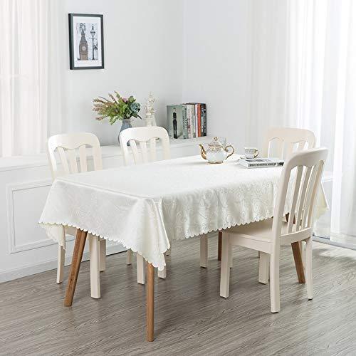 PhantasyIsland.com Carvapet Manteles Rectangular Manteles Algodón Lino Mantel Manteles para Cocina Comedor Mesa Buffet Mantel de 340cm