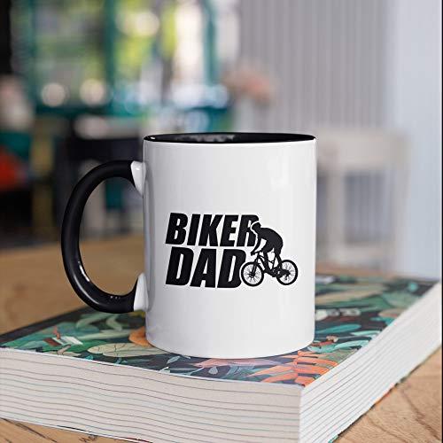 Taza de café para el día del padre, ciclismo, ciclista, regalo para ciclista, regalo para bicicleta de montaña, ciclismo, regalo, taza de campamento, vaso