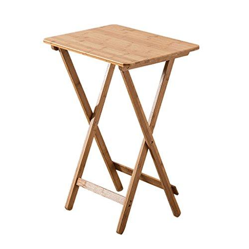 Tables de pique-nique Pur bambou pliant table carrée simple portable petite table table d'ordinateur portable en plein air table à manger en bois massif (Size : 50 * 36.5 * 62cm)