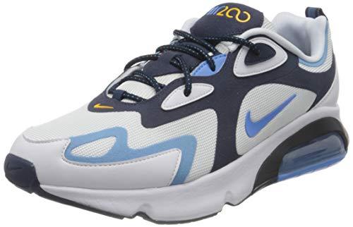Nike Air Max 200, Chaussure de Course Homme, White/University Blue-Midnight Navy, 44 EU