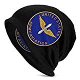 shenguang Insignia of The United States Army Aviation Gorro de Punto Unisex, Gorro de Calavera, Gorro de Punto Negro