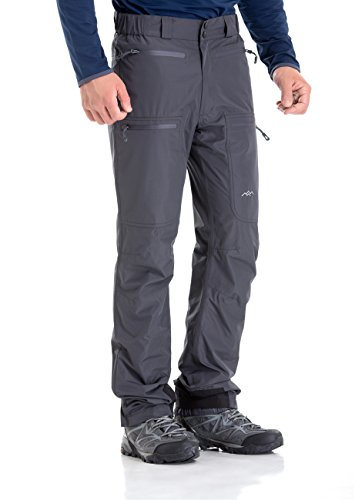 TRAILSIDE SUPPLY CO. Mens-Ski-Snow-Snowboard-Pants, Wind/Waterproof, Insulated, 4XL, Grey