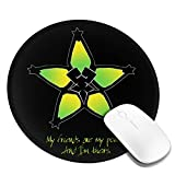 Wayfinder - Ventus Printed Round Mouse pad, Office Desktop or Gaming Cloth Surface Natural Rubber Round Mouse Mat