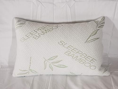 Sleepbee Queen Size Luxurious Adjustable Bamboo Pillow Shredded Memory Foam Hydroponic Breathable Bamboo Pillow Cover