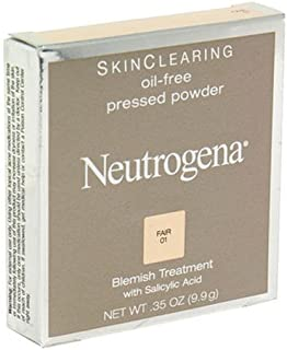 Neutrogena Skin Clearing Oil-Free Pressed Powder, Fair 01, 0.35 Ounce (9.9 g) (Pack of 2)
