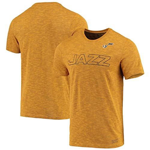 ANKING Camiseta de baloncesto para hombre NBA Utah Jazz Retro Cuello Redondo Jeysey, Fitness Sports Transpirable Top Deportes de Verano Manga Corta, Deportes al Aire Libre y Ocio, Amarillo, XL
