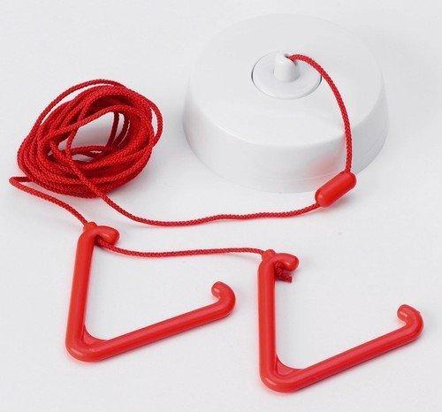 TC436 - C-TEC NC807C Toilettenalarm, 3 m langes Band, 2 Griffe zum Ziehen