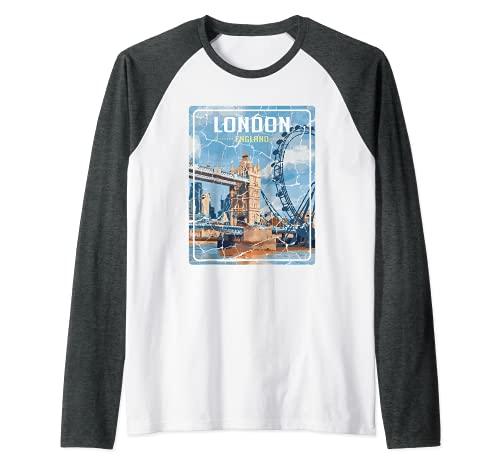 City de Londres Inglaterra Aventurero Camiseta Manga Raglan