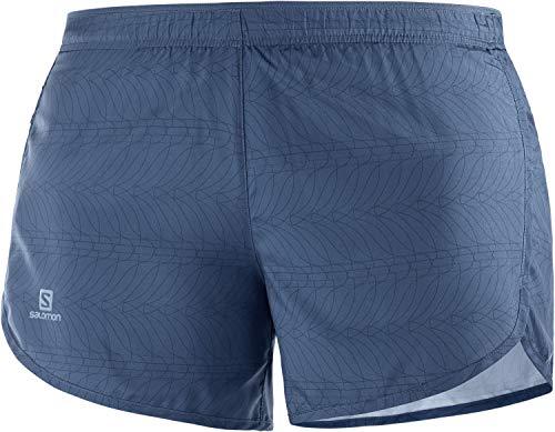 SALOMON Agile Short W Shorts para Running, Azul (Dark Denim), Talla M para Mujer