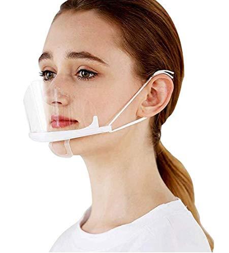 10X Transparente Offene Mundschutz Kunststoff Shield Gesichtsschild,Transparent Mundschild,Gesichtsschutzschild Kunststoff Visier Gesichtsschutz,Face Visier Klarer Schilder (orange , Einheitsgröße )