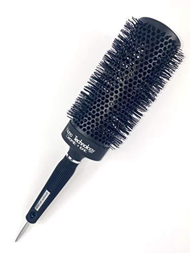 Extra Long Professional Round Barrel Hair Brush, Ergonomic+Nano Technology+Ceramic+Ionic+Tourmaline Infused Bristles 65mm (3.5' wide x 13' long)