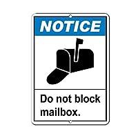 ユニークな壁の装飾金属ポスター壁プラーク、通知はメールボックスBをブロックしないでください、楽しい看板金属おもしろい警告サイン物件通知サインプラークの家の装飾
