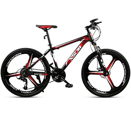 Bicicleta de montaña Mountainbike Bicicleta De 26 pulgadas de bicicletas de montaña, bicicletas de carbono marco de acero duro-cola, doble disco de freno y suspensión delantera, de 21 velocidades, 24