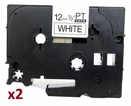2 x TZe231 12mm x 8m Schriftbandkassetten Schwarz auf weiß Etikettenband kompatibel zu Brother P-Touch PT-1000 1005 1010 3600 D200 D210 D210VP D600VP E100 E550WVP H101C H105 H110 H300 H500 P700 P750W
