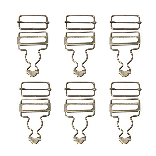 KerDejar 6 Sets Hosenträgerschnallen Strap Adjuster Verschluss Clip für Kleidungsstück Metallschnallen