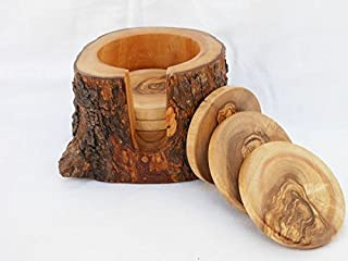 The Handmade Wooden Rustic Coaster Set - Nagina International
