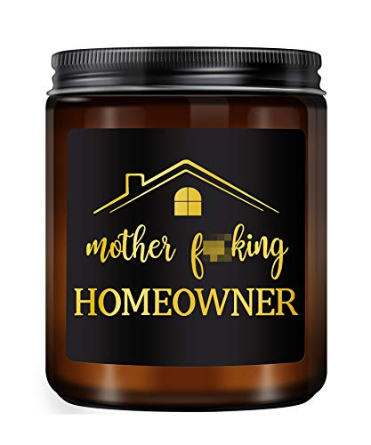 KLL Lavender Scented Candles- New Home Owner Gift, Funny Housewarming Gift, Housewarming Party Gift, House Warming Presents for New Home,First Home Gift, New House Gift, Funny Candle(7oz)