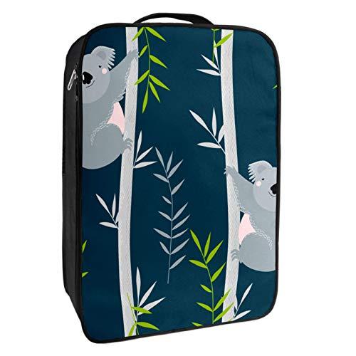 Schuh-Aufbewahrungsbox für Reisen und den täglichen Gebrauch, Koala, Kletterschuh-Organizer, tragbar, wasserdicht bis zu 12 m, mit doppeltem Reißverschluss und 4 Taschen