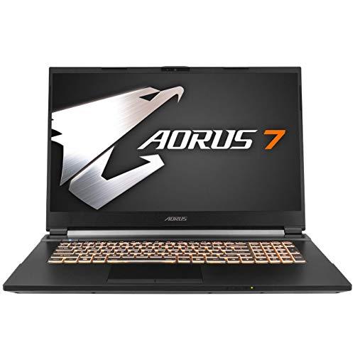 Gigabyte AORUS 7 Gaming Laptop, Intel Core i7 10750, Nvidia GeForce GTX 1660 Ti, 17 Zoll 144Hz IPS Display (AORUS 7 SB-7DE1130SD)