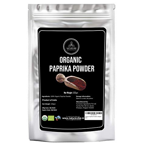 Organic Paprika Powder (500gm) by Naturevibe Botanicals | Hot Spice Powder | Perfect for Curries & Gravies
