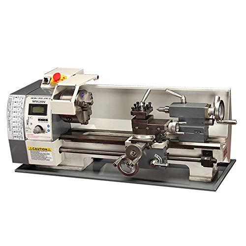 "Techtongda inch thread metal lathe 7x12"" precision bench lathe 600w brushless motor turning machine"