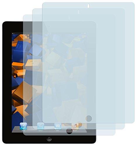 mumbi Schutzfolie kompatibel mit iPad 4 Folie, iPad 3 Folie klar, Bildschirmschutzfolie (3X)