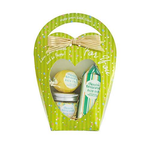 amaiwanna(アマイワナ) アマイワナ バスギフト 入浴料 ハートバッグ ピスタチオグリーン 入浴剤