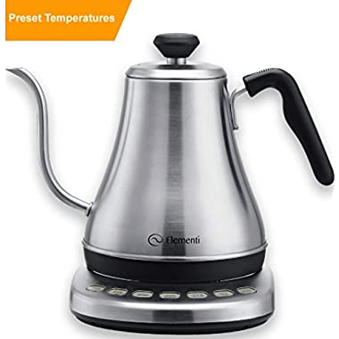 Electric Gooseneck Variable Temperature Kettle - Perfect Pour Over Coffee and Tea | Stainless Steel with Preset Temperature Control Works with Chemex, Hario V60, Aeropress