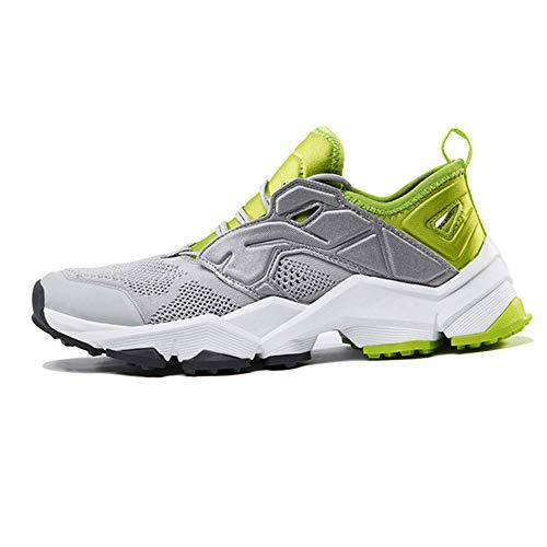 Heren Wandelschoenen Voor Dames, Mesh Trailrunningschoenen Outdoor Platte Schoenen Comfortabele Instapwandelschoenen Lichtgewicht Crosstrainers,Gray male,43EU