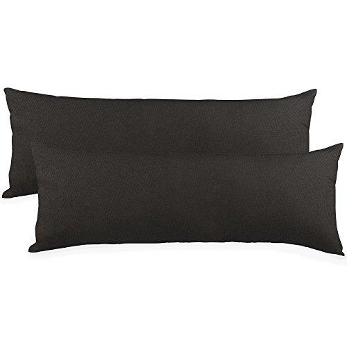 CelinaTex BeBasic Kissenbezug Doppelpack XXL 40 x 200 cm schwarz Mikrofaser Seitenschläferkissen Bezug Jersey