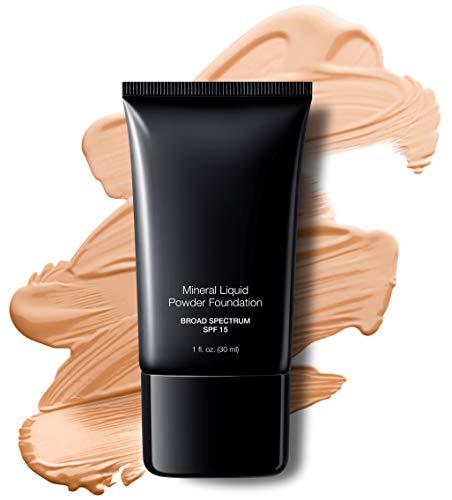 Jolie Mineral Liquid Powder Foundation SPF 15 1 Fl. Oz. Hypoallergenic - For All Skin Types (Pale Beige)