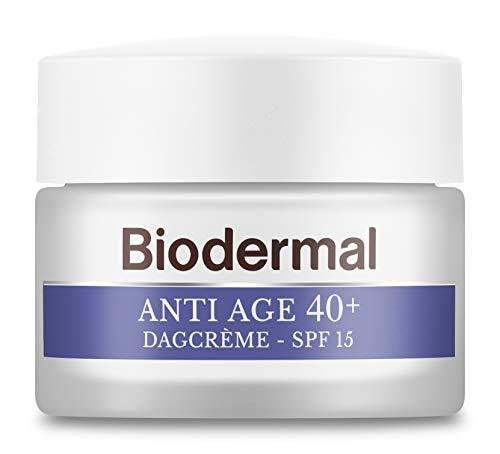 Biodermal Anti Age 40+ - Dagcrème met SPF15, niacinamide en hyaluronzuur tegen huidveroudering - 50 ml