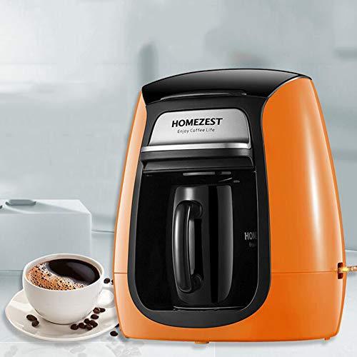 YLEI Kaffeemaschine, Filterkaffeemaschine Mit automatischer Abschaltfunktion, Herausnehmbarer Filter, Tropfstopp, Warmhaltefunktion, 300W, 150ml,Orange