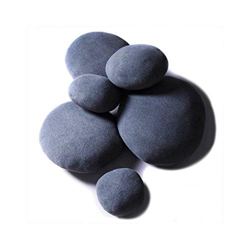 WSGZH 6 Steinkissen zusammen mit Pebble-Kissen aus Reiner Baumwolle (Color : Blue)