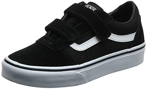 Vans Ward V-Velcro, Sneaker, Nero ((Suede/Canvas) Black/White Iju), 29 EU