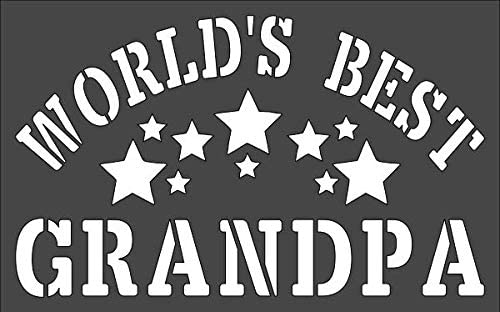 1- 7x11 inch Custom Cut Stencil Grandpa Arts Worlds Our shop OFFers Omaha Mall the best service and Best Cra