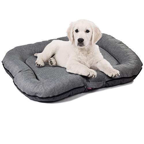 BOUTIQUE ZOO Hundebett Große M: 80 x 65 cm | Wasserfest Hundematratze für Hunde | Hundematte für groß und klein | Codurastoff | Waschbar | In und Outdoor | Farbe: Grau | Hundesofa S, M, L, XL, XXL