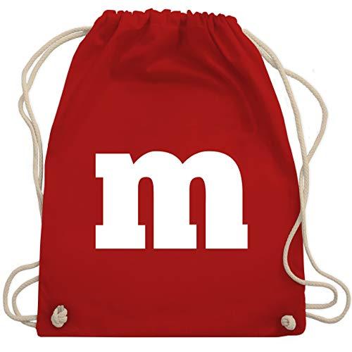 Shirtracer Karneval & Fasching - Gruppen-Kostüm m Aufdruck - Unisize - Rot - WM110 - Turnbeutel und Stoffbeutel aus Bio-Baumwolle